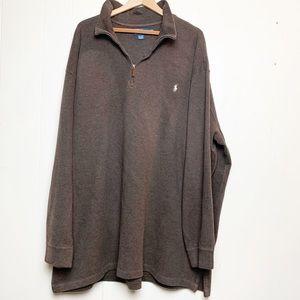 Polo by Ralph Lauren Brown 1/4 Zip Long Sleeve
